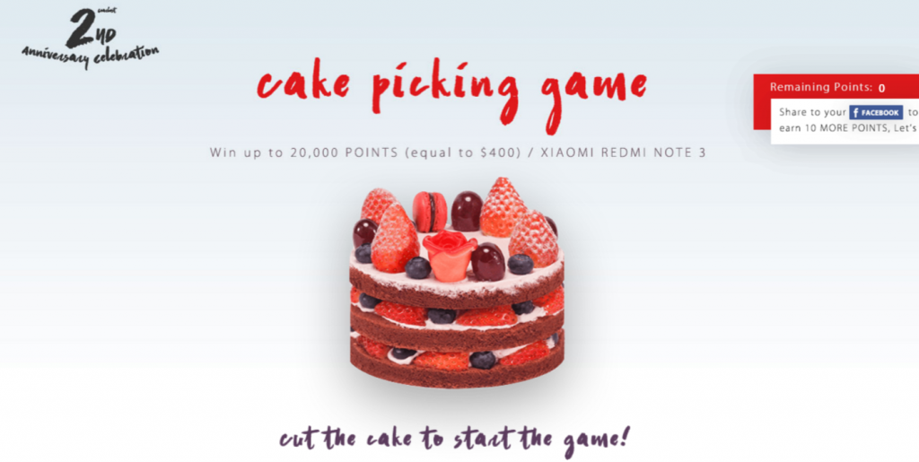 2nd Anniversary Sale Cake Game GearBest.com