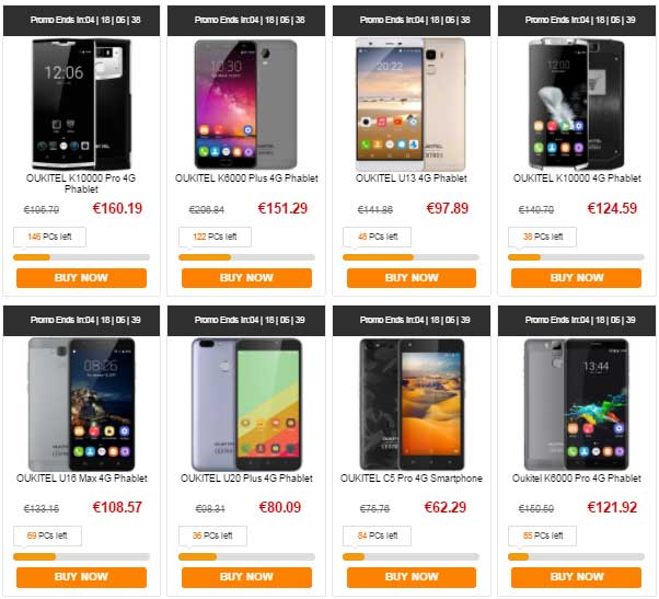 Coupons gearbest oukitel