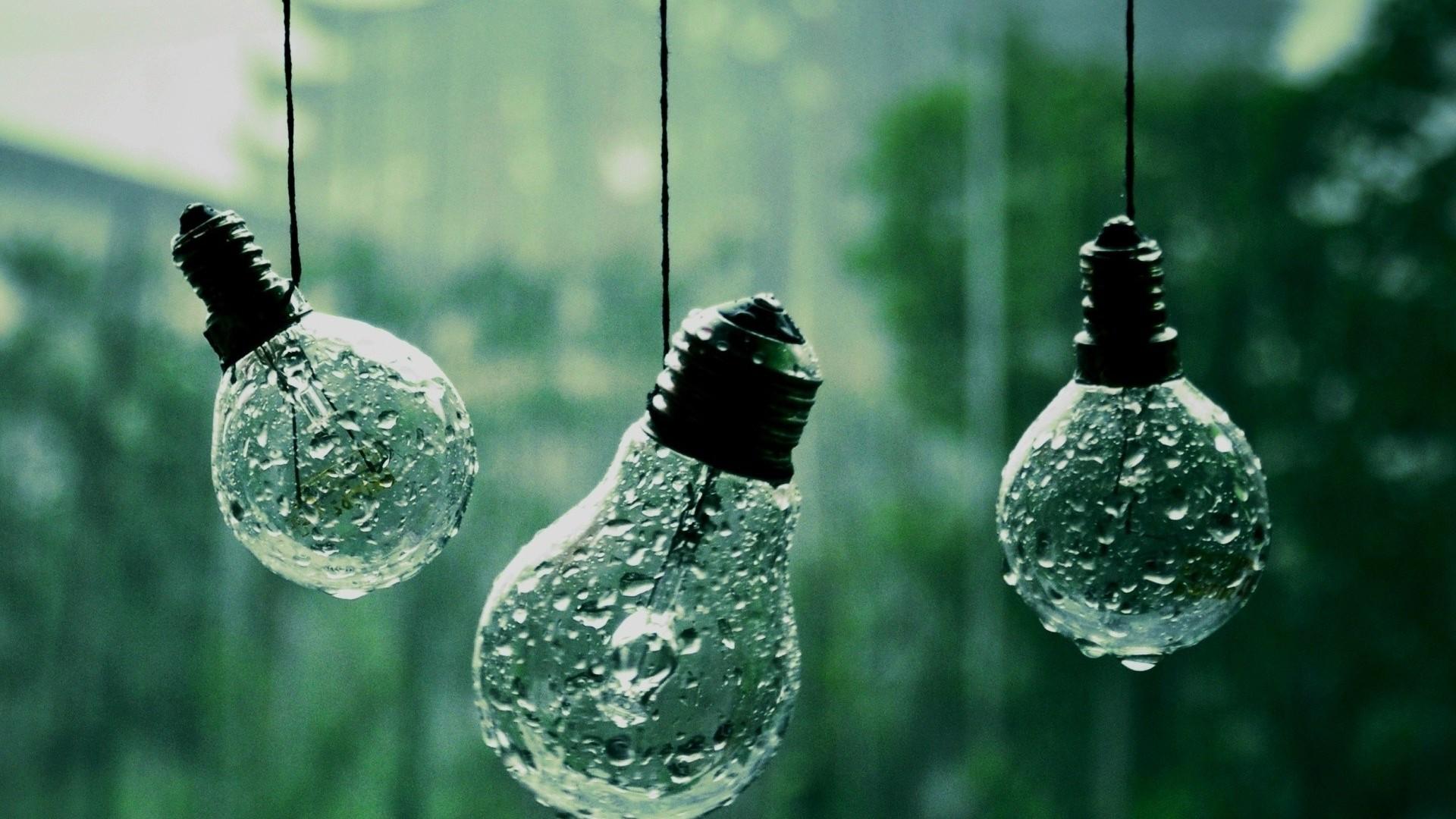 Wet Light Bulbs Photography Hd Wallpaper 19201080 2772jpg
